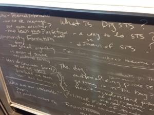 Brainstorming about digital STS at the Copenhagen Workshop, 2012.