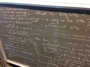 Brainstorming about digital STS at the Copenhagen Workshop, 2012.