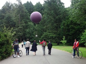 The balloon mapping group in action at the Harvard Co-Design workshop.